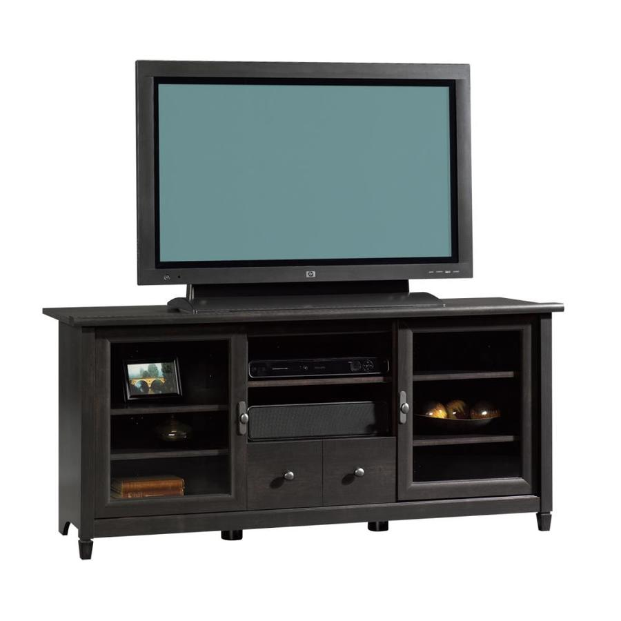 Sauder Edge Water Estate Black Rectangular Pedestal Television Stand