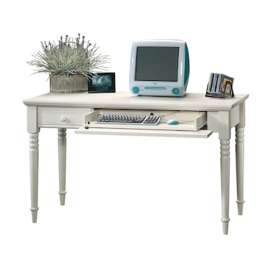 Sauder Harbor View Antiqued White Writing Desk At Lowes Com