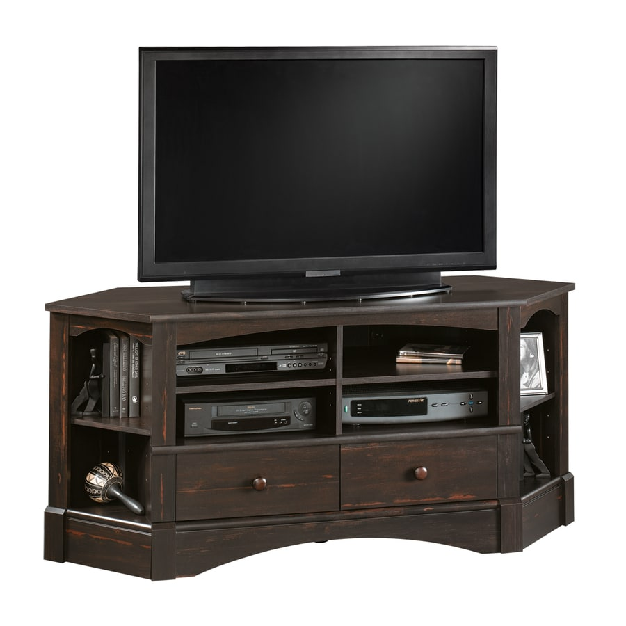 Sauder Harbor View Antiqued Paint Corner Television Stand At Lowes Com