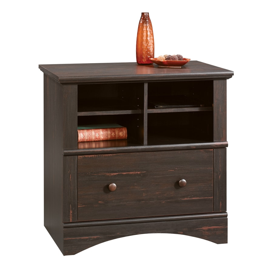 Shop Sauder Harbor View Antiqued Paint 2-Drawer File Cabinet at ...