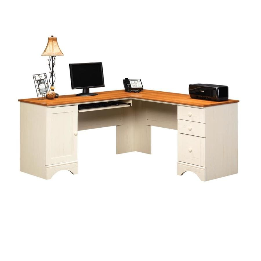 Shop sauder harbor view casual l shaped desk at White l shaped desk