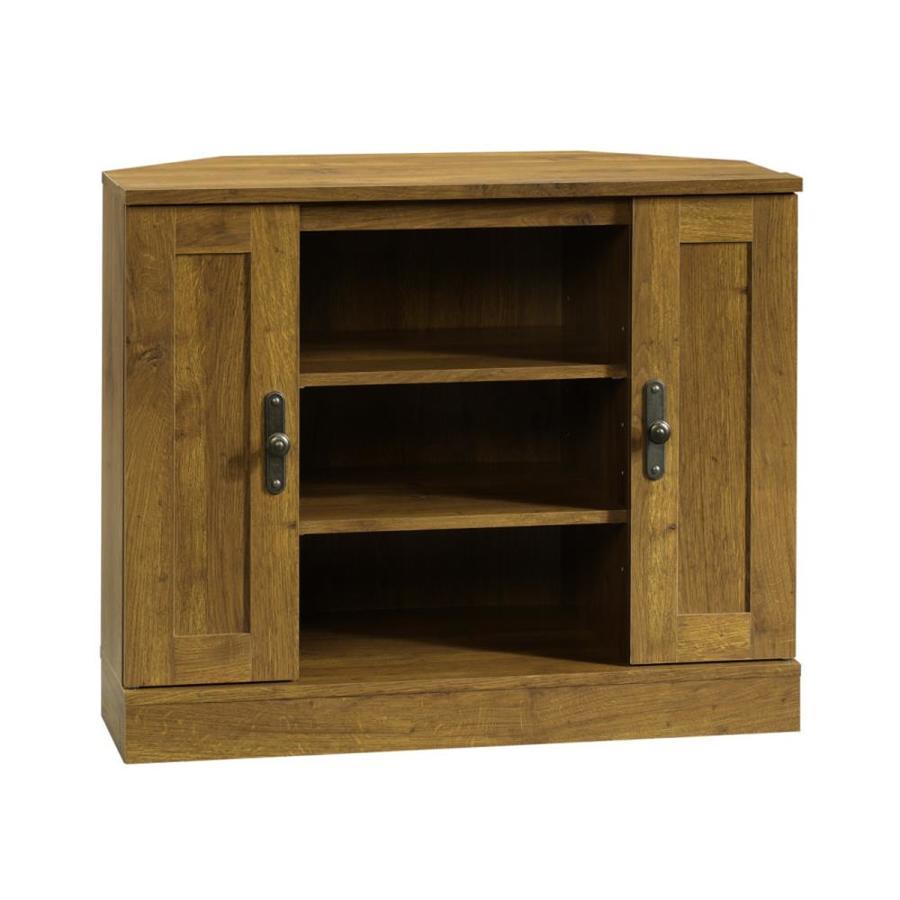 Sauder Harvest Mill Abbey Oak Tv Cabinet At Lowes Com