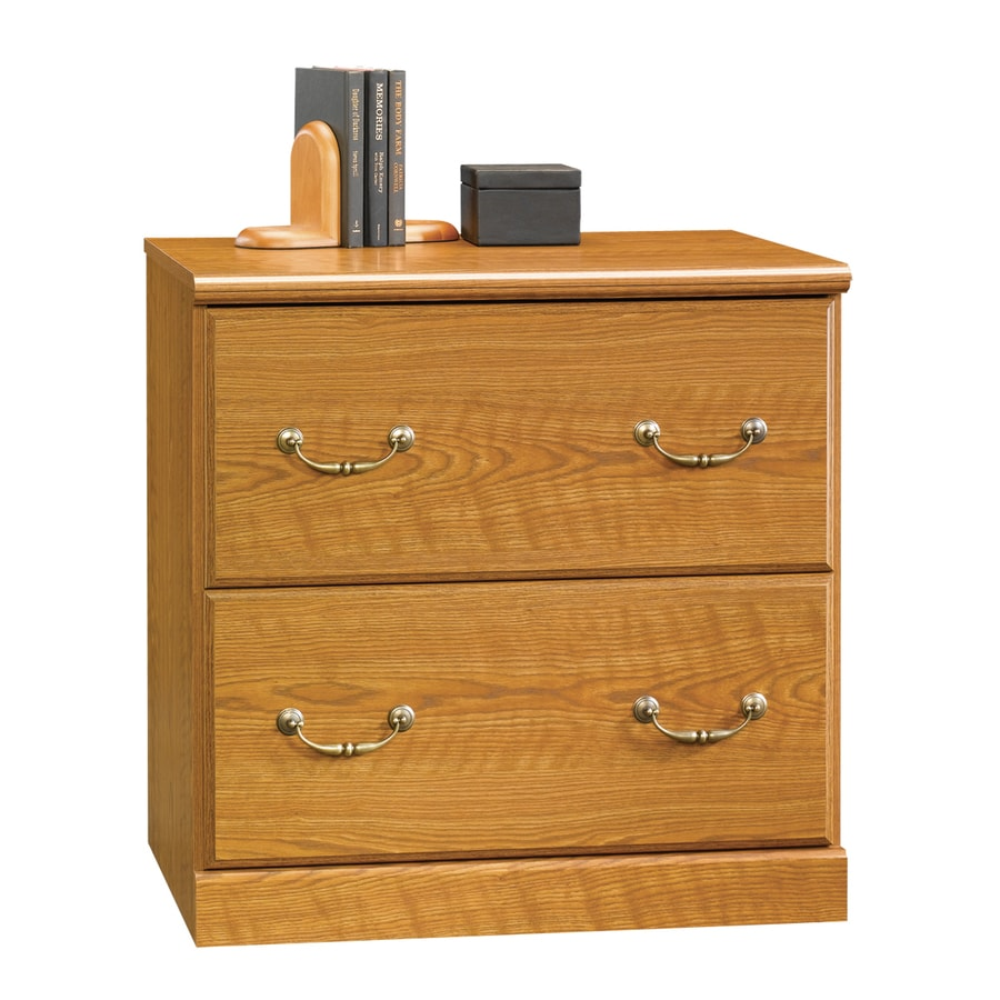 oak file cabinet shop sauder orchard carolina oak 2 drawer file 23844