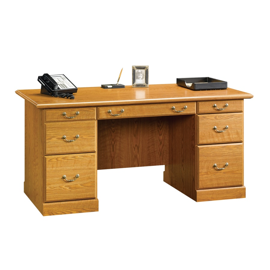 shop sauder orchard traditional executive desk at lowes
