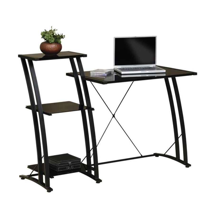 Sauder Deco Black Glass Laptop Desk