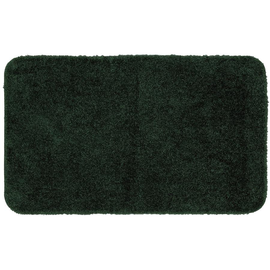"Mohawk Home 40"" X 24"" Dark Green Nylon Bath Mat At Lowes.com"