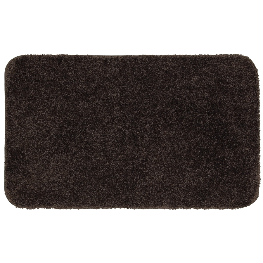 Mohawk Home Studio 40-in x 24-in Brown Nylon Bath Mat