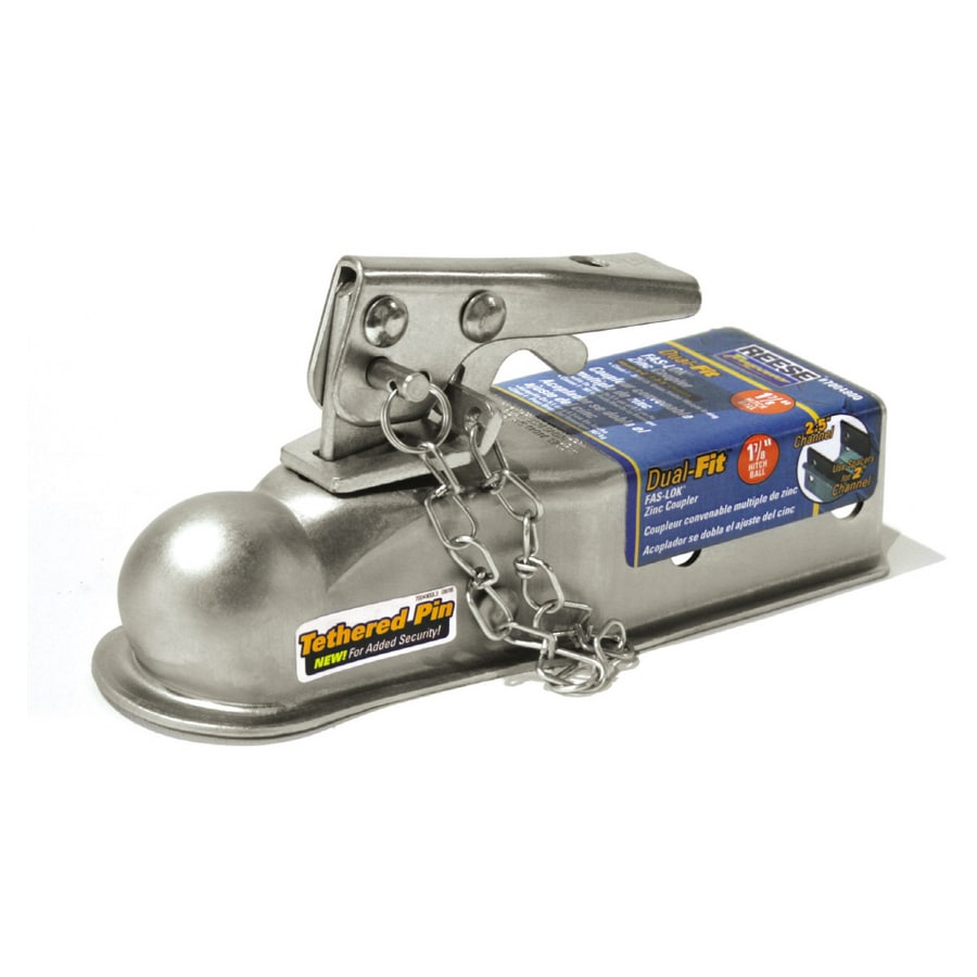 Reese 1-7/8-in Ball x 2-1/2-in Channel Trailer Coupler