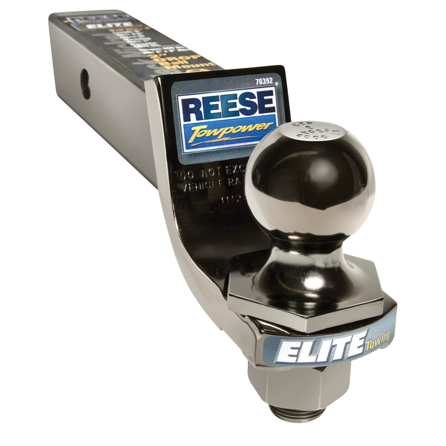 Reese Elite 2-in InterLock Black Nickel Hitch Ball and Mount Combination