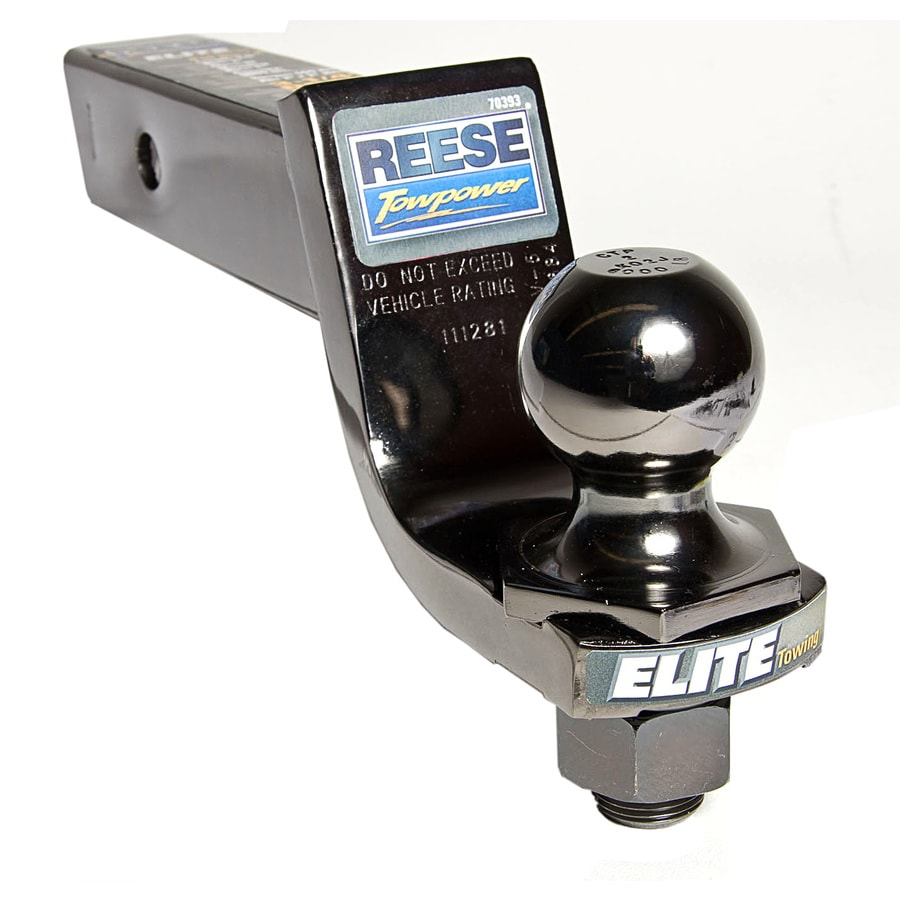 Reese Elite 2-in Black Nickel Interlock Hitch Ball and Ball Mount Combination