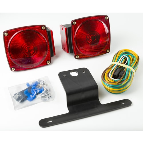 Submersible Trailer Light Kit, Under 80-in on trailer hitch harness, trailer mounting brackets, trailer plugs, trailer brakes, trailer generator, trailer fuses,