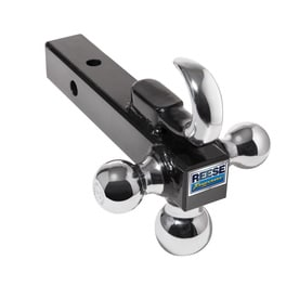 ball and hitch. reese towpower triple ball mount bar with hook and hitch
