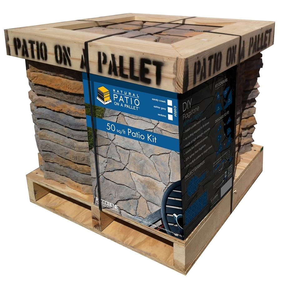 patio on a pallet Sereno Natural Shape 50 sq  ft Patio on a Pallet Block Project Kit  patio on a pallet
