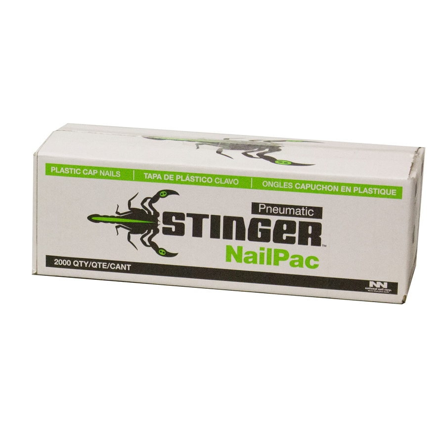 Stinger 1 In 14 Gauge 15 Degree Electro Galvanized Steel Pneumatic Roofing Nails 2000 Count In The Roofing Nails Department At Lowes Com