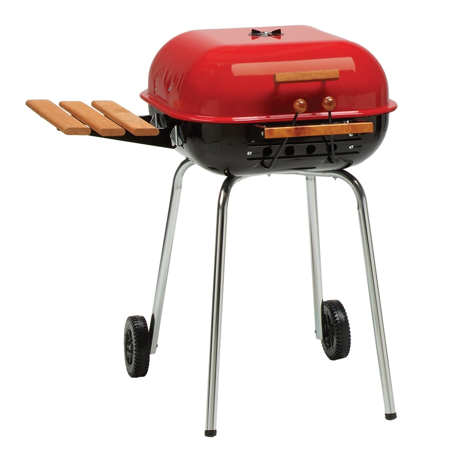 Americana 21.25-in Red Charcoal Grill