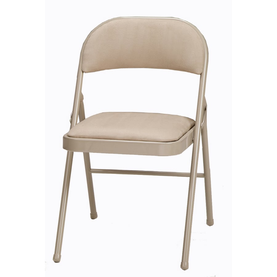 Shop Style Selections Indoor Steel Buff Standard Folding Chair at ...
