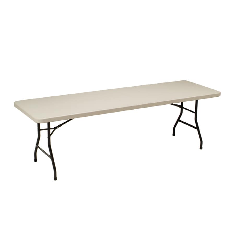 Style Selections 96-in x 30-in Rectangle Steel Mocha Folding Table