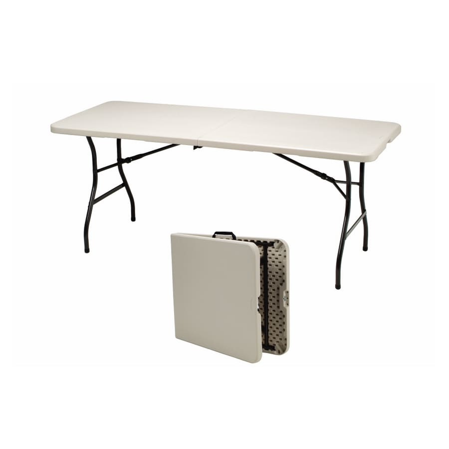 Shop Samsonite 6 L x 2 1 2 W Rectangular Folding Table at Lowes