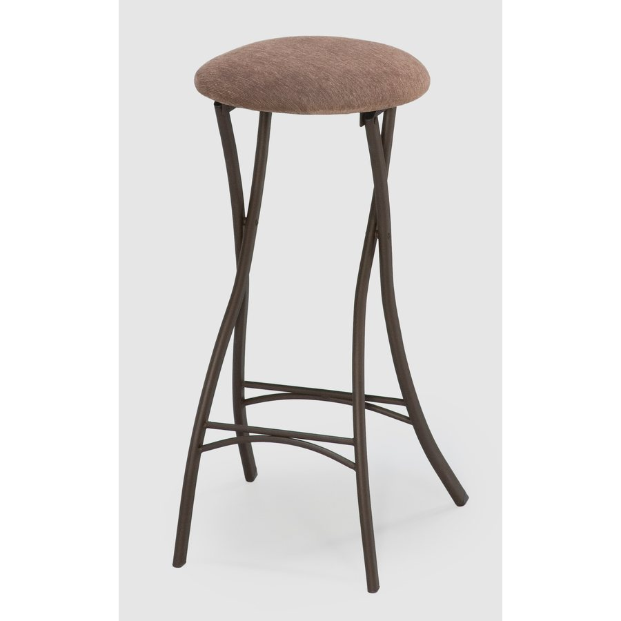Style Selections Destiny Pack Cinnabar Bar Height Upholstered Bar Stool In The Bar Stools Department At Lowes Com