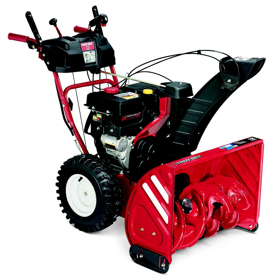 Troy-Bilt Storm 2840 28-in Two-stage Push-button Electric Start Gas Snow Blower Heated Handles and Headlight