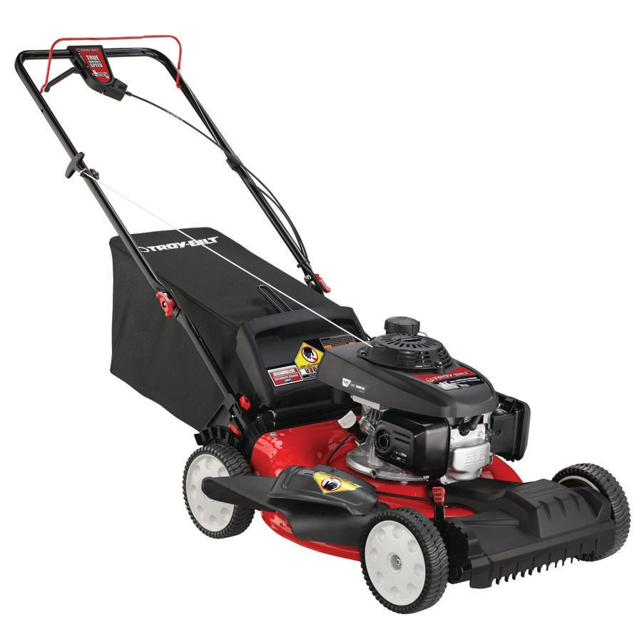 Troy-Bilt 160-cc 21-in Self-Propelled Front Wheel Drive 3 in 1 Gas Push Lawn Mower with Honda Engine and Mulching Capability