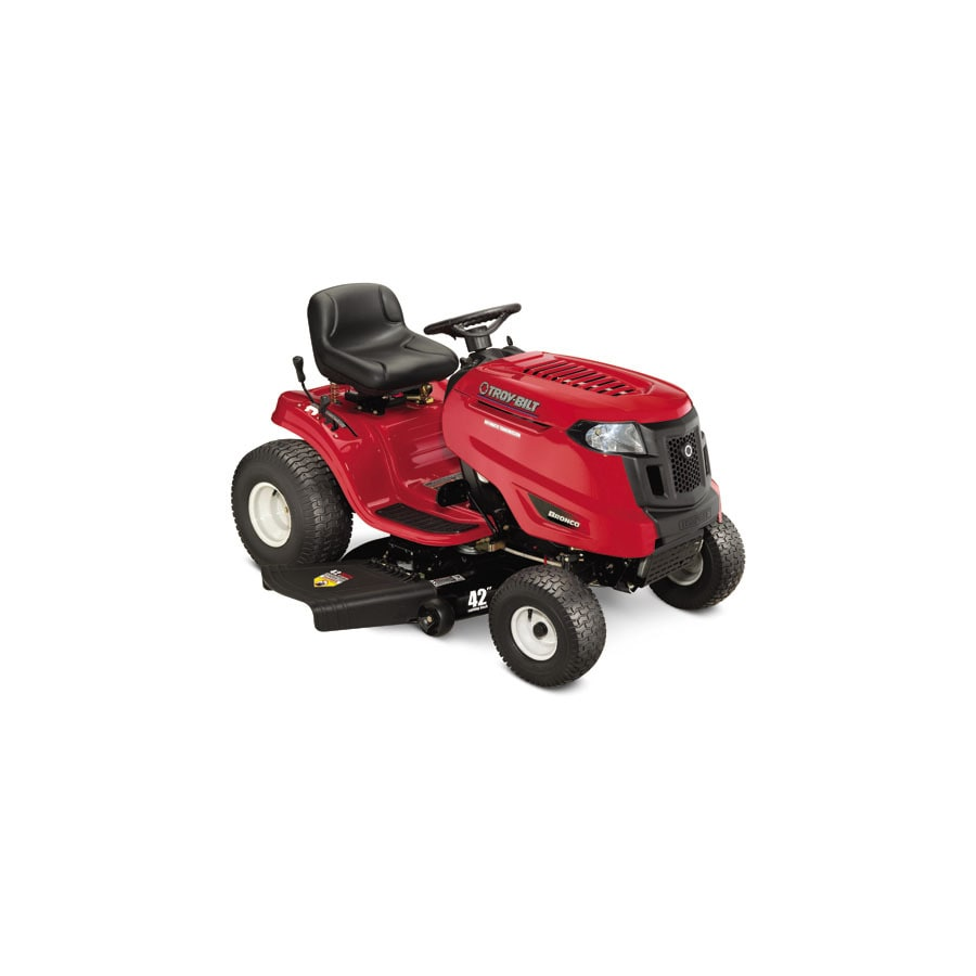 Troy Bilt Bronco 20 Hp Automatic 42 In Riding Lawn Mower At Lowes Com