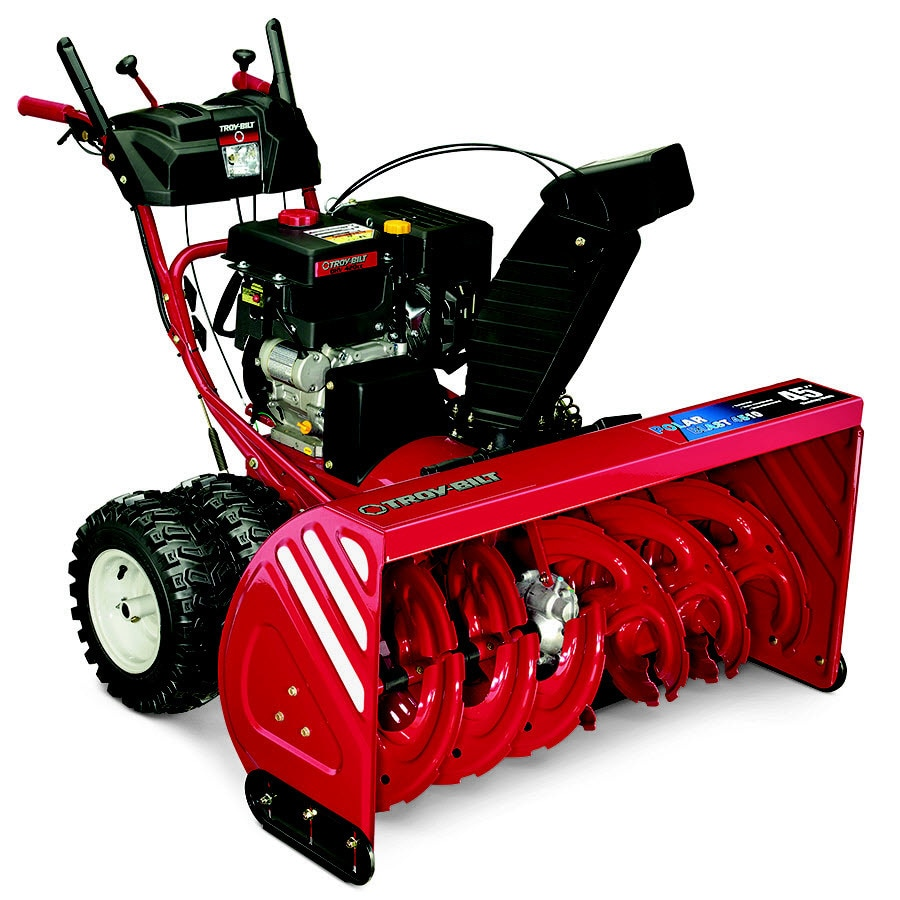 Troy-Bilt Polar Blast 4510 45-in Two-stage Push-button Electric Start Gas Snow Blower with Heated Handles and Headlights