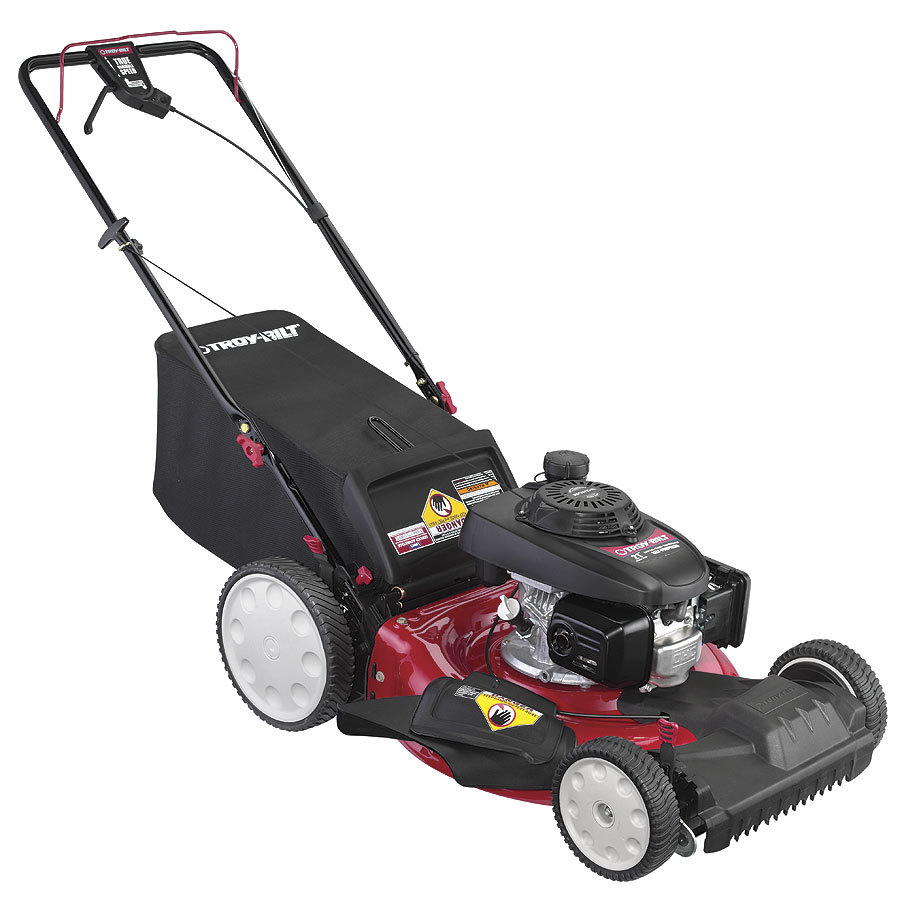 Troy-Bilt TB260 160-cc 21-in Self-Propelled Front Wheel Drive 3 in 1 Gas Push Lawn Mower with Honda Engine