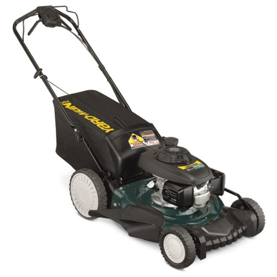 Yard-Man 160cc 21-in Self-Propelled High Rear Wheel Drive 3-in-1 Push Lawn Mower with Honda Engine and Mulching Capable