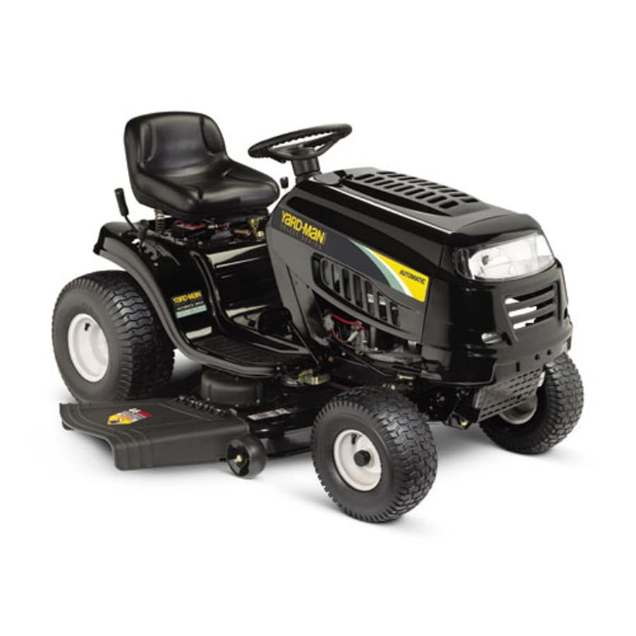 Man Riding Lawn Mower : Shop yard man select hp automatic in riding lawn