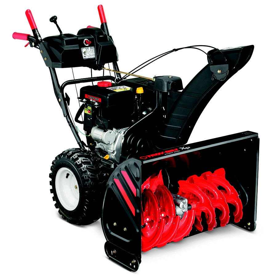Troy-Bilt XP Storm 3090 XP 30-in Two-stage Push-button Electric Start Self-propelled Gas Snow Blower with Heated Handles and Headlight