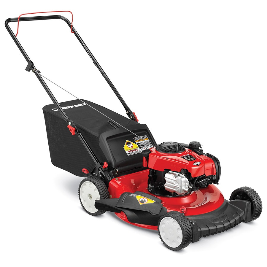 Troy-Bilt TB110 140cc 21-in 3 in 1 Gas Push Lawn Mower with Briggs & Stratton Engine
