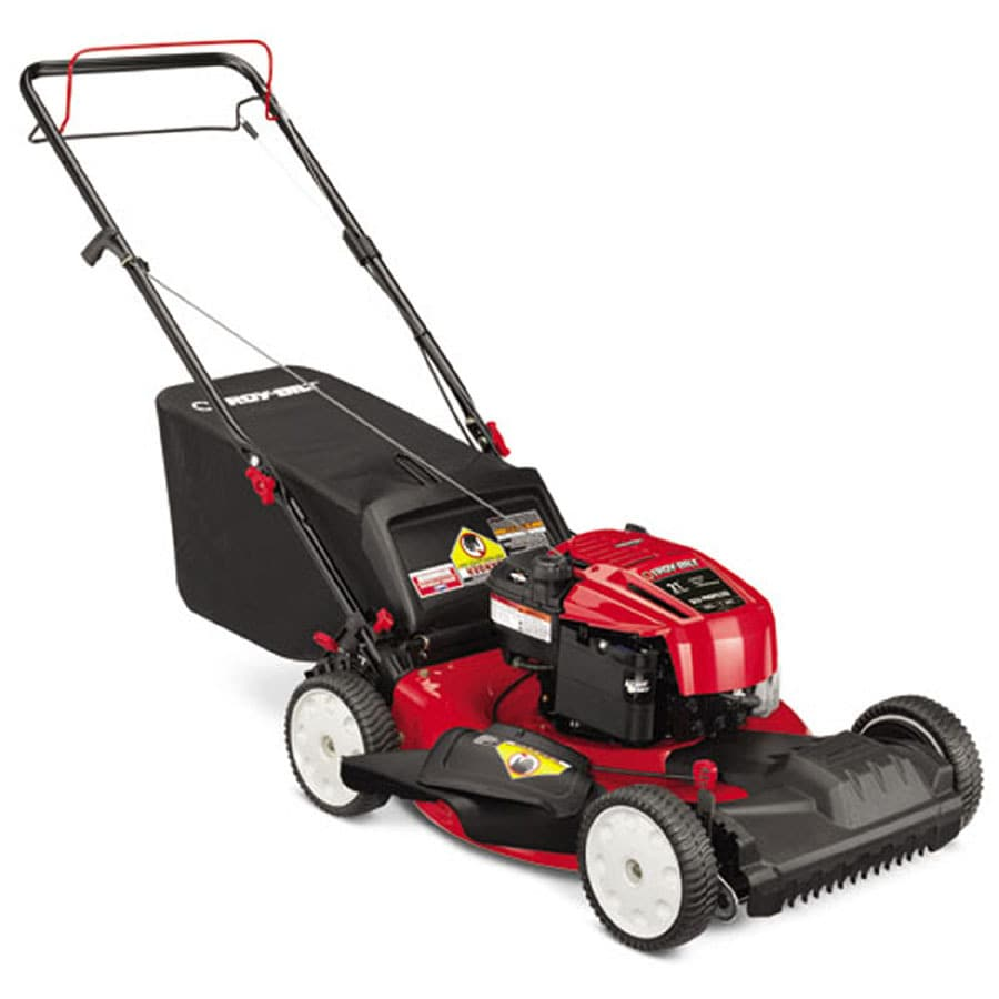Troy-Bilt TB210 190-cc 21-in Self-Propelled Front Wheel Drive 3 in 1 Gas Push Lawn Mower with Briggs & Stratton Engine and Mulching Capability