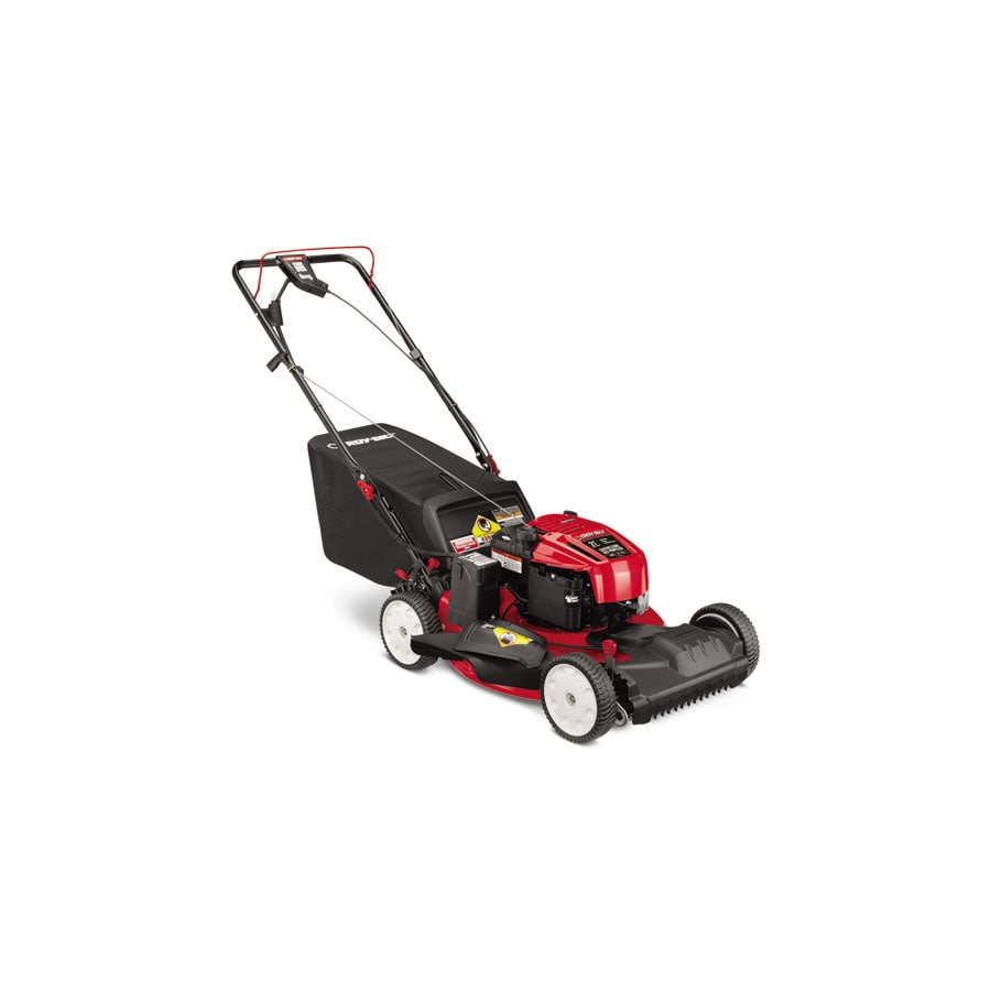 Troy-Bilt TB280 ES 190-cc 21-in Key Start Self-Propelled Front Wheel Drive 3-in-1 Gas Lawn Mower with Mulching Capability