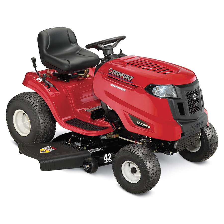 Troy-Bilt Bronco 17-HP Automatic 42-in Riding Lawn Mower with Mulching