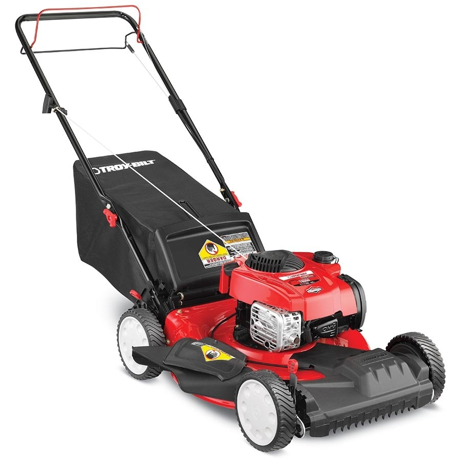 Troy-Bilt TB200 150cc 21-in Self-Propelled Front Wheel Drive Residential Gas Lawn Mower with Mulching Capability