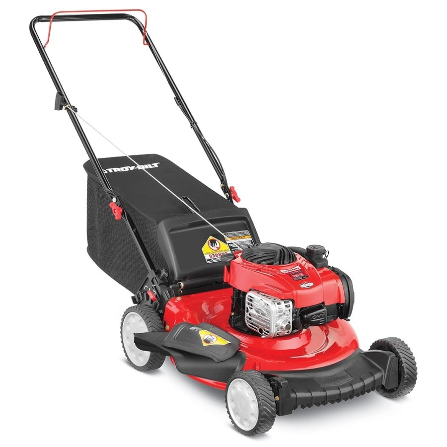 Shop troy bilt tb110 140cc 21 in push residential gas lawn for Best motor oil for lawn mowers