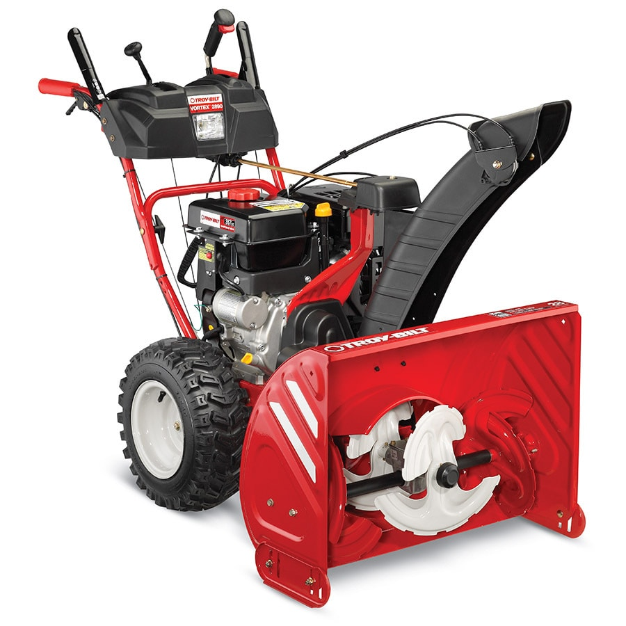 shop troy bilt vortex 2890 28 in three stage gas snow blower self rh lowes com troy bilt snowblower manual chute won't turn troy bilt snowblower manual troubleshooting