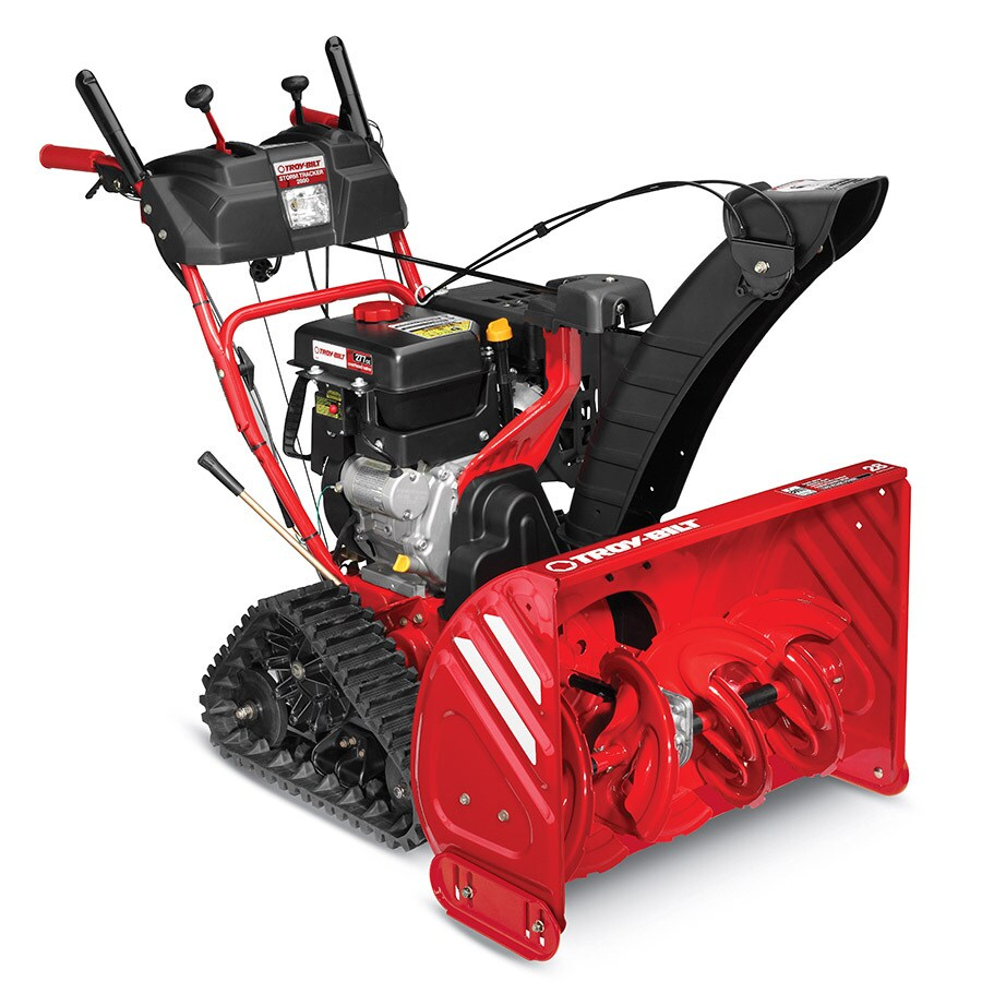 Troy-Bilt Storm Tracker 2890 277cc 28-in Two-Stage Electric Start Gas Snow Blower with Heated Handles with Headlight