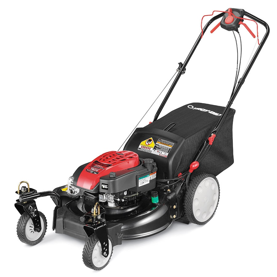 Troy-Bilt XP Tb370 Xp 190cc 21-in Self-Propelled High Rear Wheel Drive Gas Lawn Mower with Mulching Capability