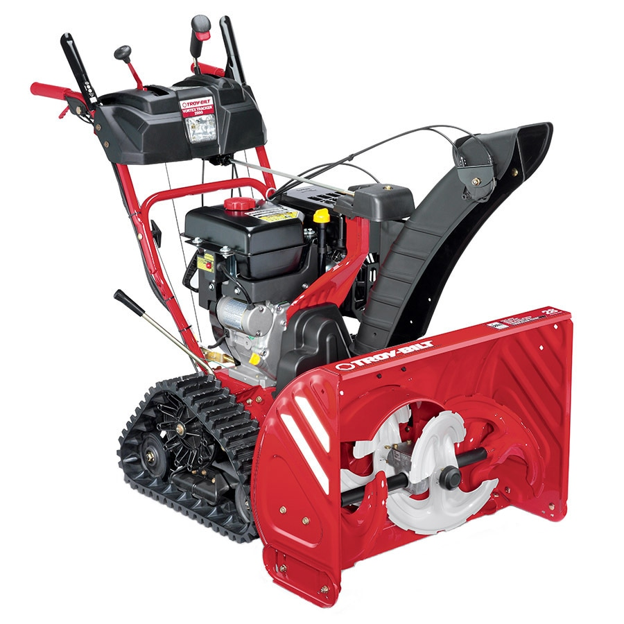 Troy-Bilt Vortex Tracker 2890 28-in Three-stage Push-button Electric Start Self-propelled Gas Snow Blower with Heated Handles and Headlight