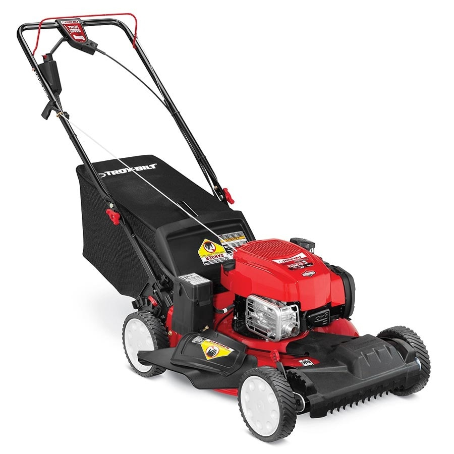 Troy-Bilt Tb280 Es 163cc 21-in Self-Propelled Front Wheel Drive Residential Gas Push Lawn Mower with Mulching Capable