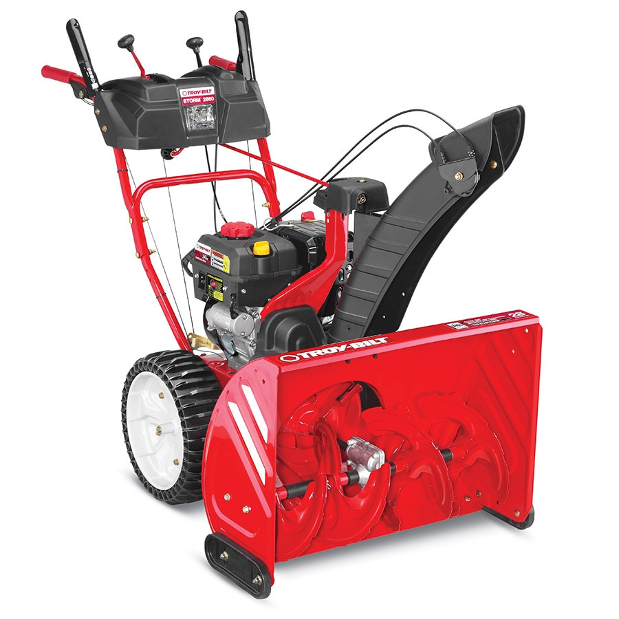 Troy-Bilt Storm 2860 243cc 28-in Two-Stage Electric Start Gas Snow Blower with Heated Handles and Headlight