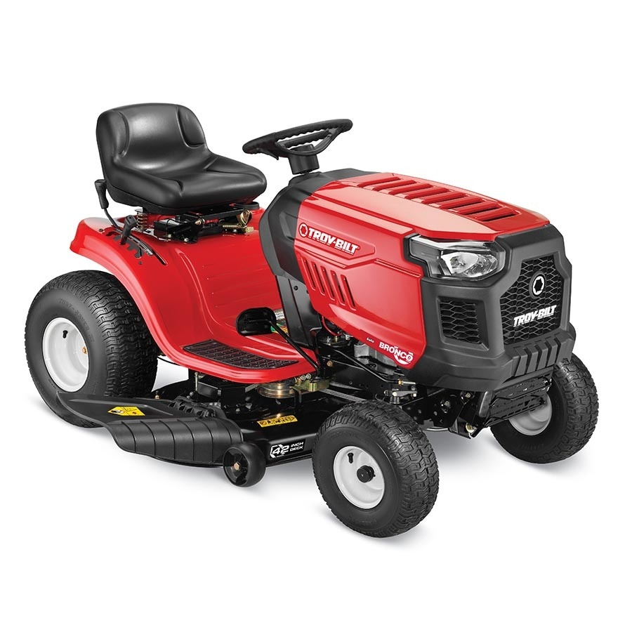 Troy-Bilt Bronco 19-HP Automatic 42-in Riding Lawn Mower with Mulching