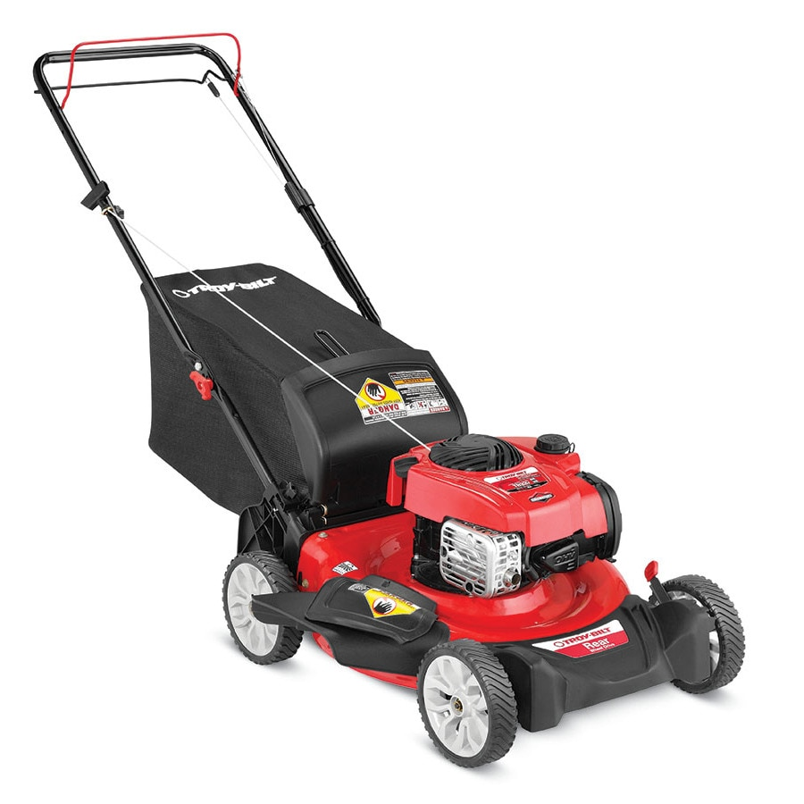 Troy-Bilt TB320 150cc 21-in Self-Propelled Rear Wheel Drive Residential Gas Lawn Mower with Mulching Capability