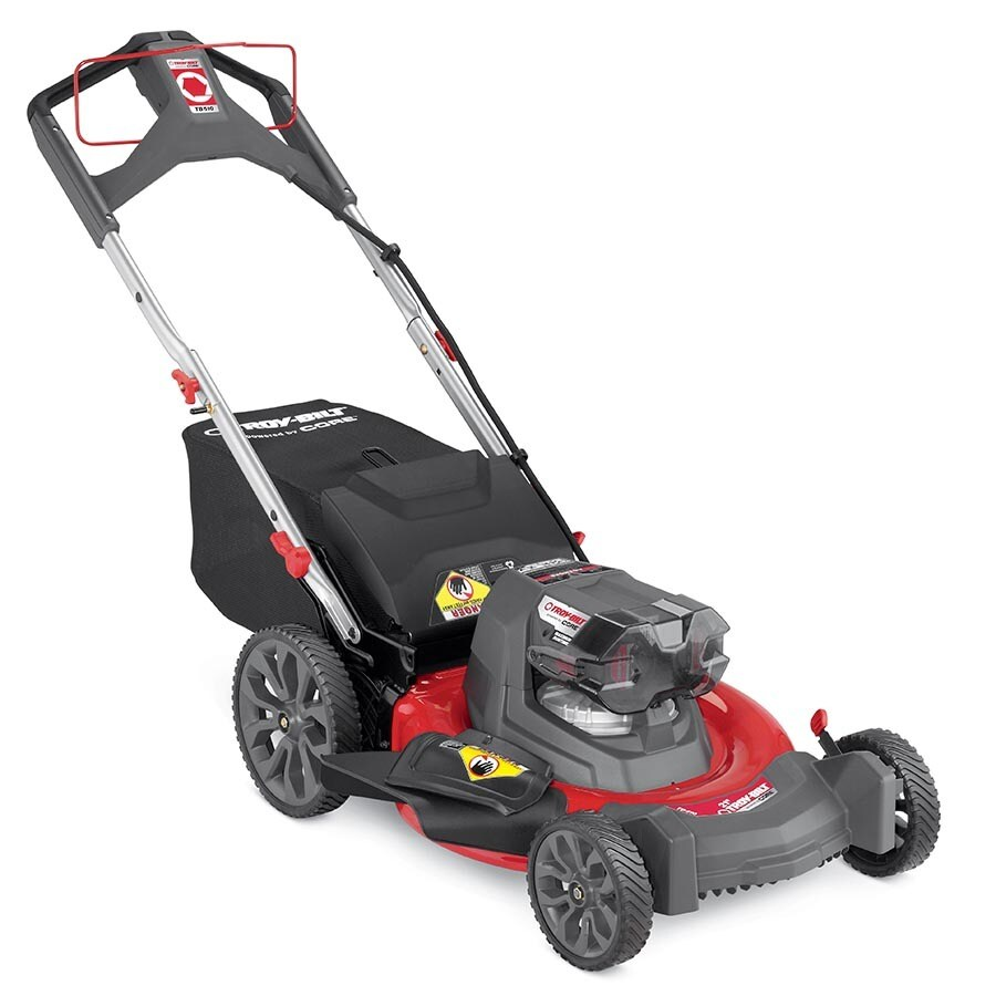 Troy-Bilt TB510 40-volt Max Brushless Lithium Ion 21-in Deck Width Cordless Electric Lawn Mower with with Mulching Capability (Battery Included)
