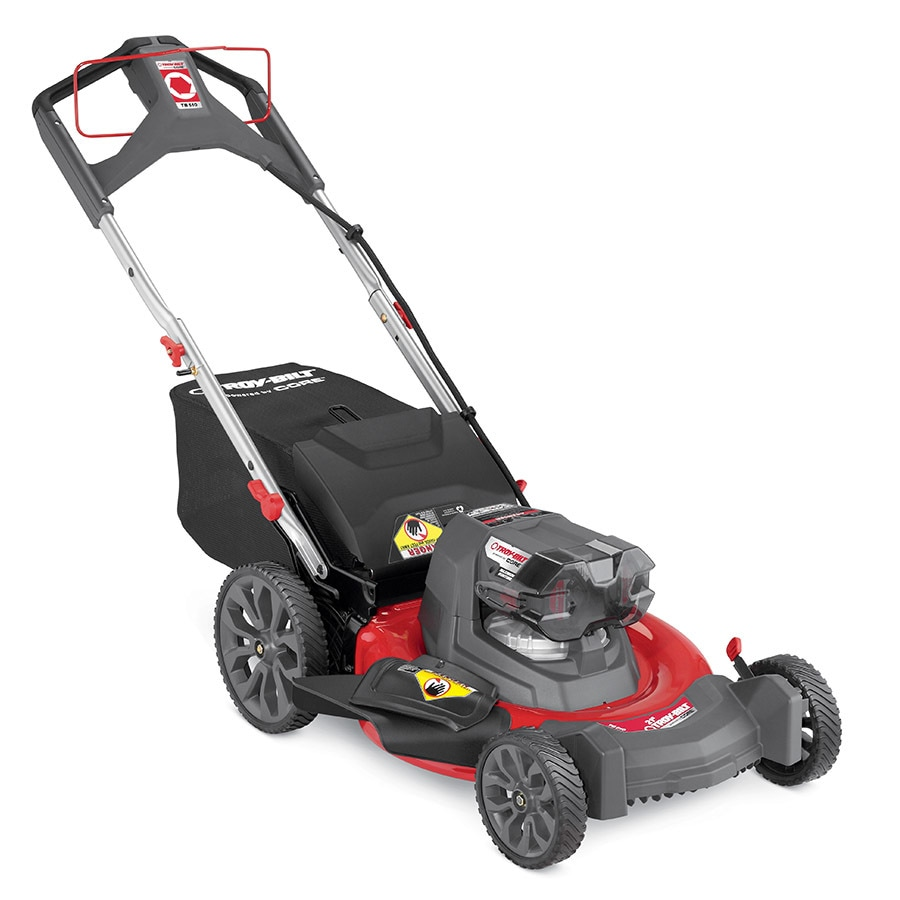 Troy-Bilt TB510 40-volt Max Brushless Lithium Ion 21-in Deck Width Cordless Electric Push Lawn Mower Mulching Capability (Battery Not Included)