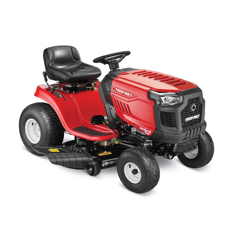 Troy-Bilt Bronco 19-HP  Automatic 42-in Riding Lawn Mower with Mulching Capability (Kit Sold Separately) CARB