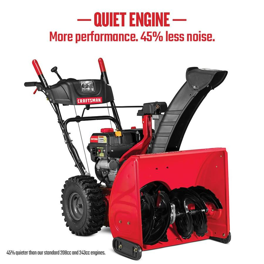 craftsman 26 in two stage self propelled gas snow blower. Black Bedroom Furniture Sets. Home Design Ideas