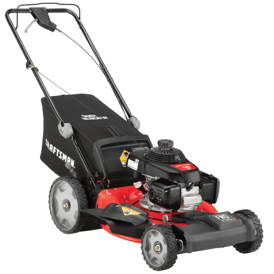 craftsman   cc    propelled gas push lawn mower  honda engine  lowescom